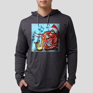 Crayfish Xmas Tile Mens Hooded Shirt