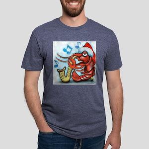 Crayfish Xmas Tee Mens Tri-blend T-Shirt