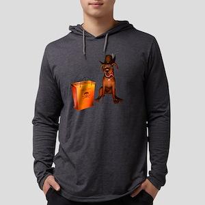 Halloween Doggie Mens Hooded Shirt