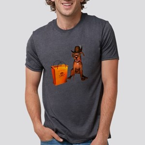 Halloween Doggie Mens Tri-blend T-Shirt