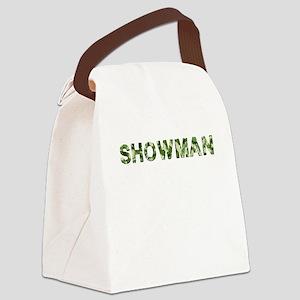 Showman, Vintage Camo, Canvas Lunch Bag