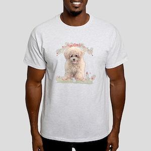 Poodle Flowers Light T-Shirt