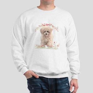 Poodle Flowers Sweatshirt