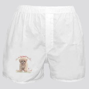 Poodle Flowers Boxer Shorts