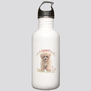 Poodle Flowers Stainless Water Bottle 1.0L