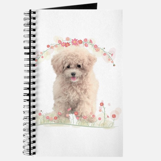 Poodle Flowers Journal