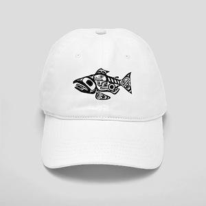 Salmon Native American Design Cap