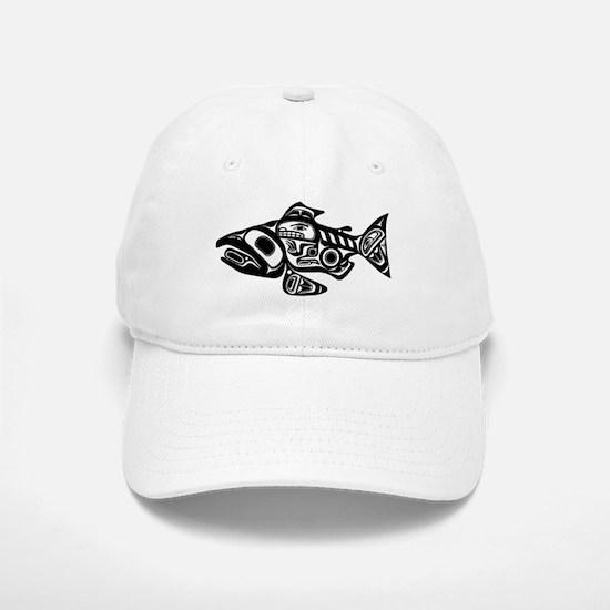 Salmon Native American Design Baseball Baseball Cap