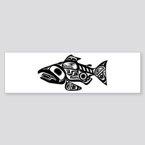Salmon Native American Design Sticker (Bumper)