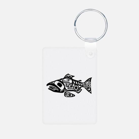 Salmon Native American Design Keychains