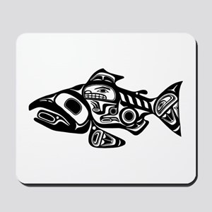 Salmon Native American Design Mousepad