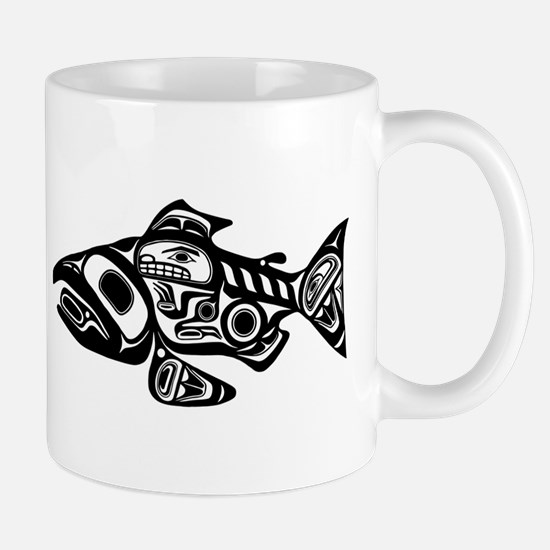Salmon Native American Design Mug