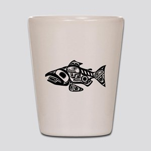 Salmon Native American Design Shot Glass