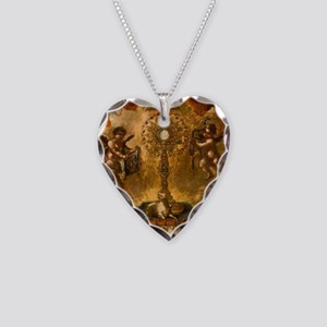 Allegory of the Eucharist Necklace Heart Charm