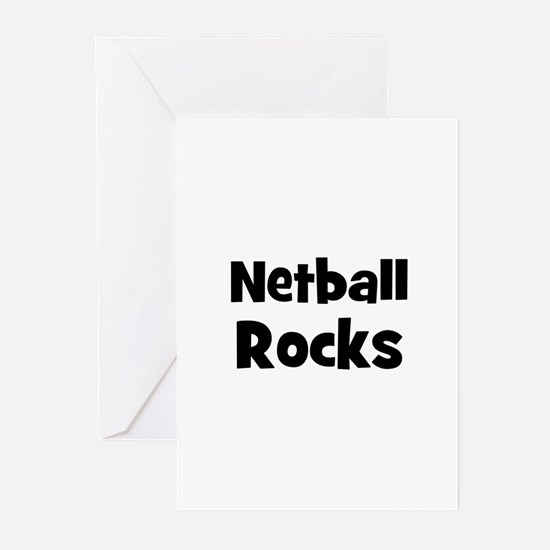NETBALL Rocks Greeting Cards (Pk of 10)