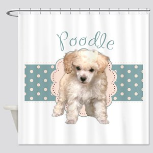 Poodle Puppy Shower Curtain