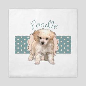 Poodle Puppy Queen Duvet