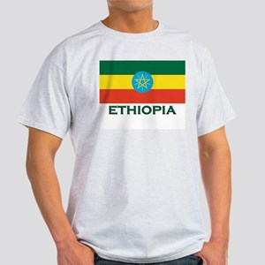 Ethiopia Flag Merchandise Ash Grey T-Shirt