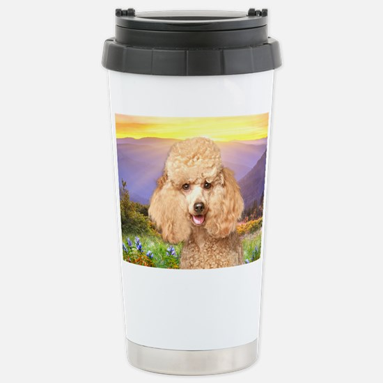 Poodle Meadow Stainless Steel Travel Mug