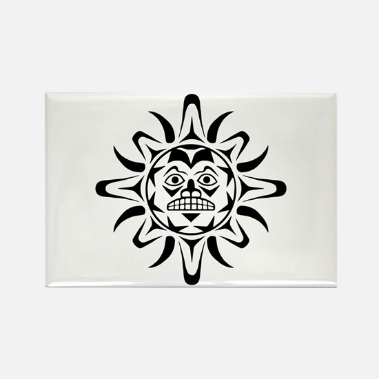 Sun Native American Design Rectangle Magnet