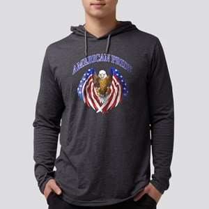 American Pride Eagle Mens Hooded Shirt