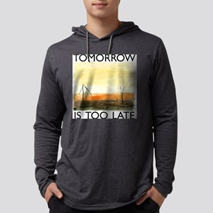 TomorrowIsTooLateDark Mens Hooded Shirt