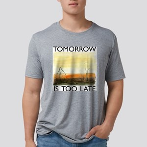 TomorrowIsTooLateDark Mens Tri-blend T-Shirt