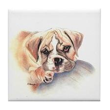 Bulldog gifts for women Tile Coaster