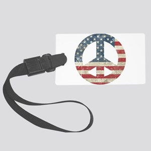 Vintage Peace In America Large Luggage Tag