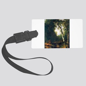 A creek in the woods Large Luggage Tag