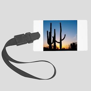 Arizona Cactus Large Luggage Tag