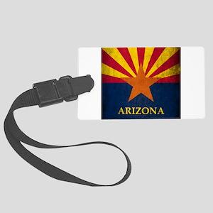 Grunge Arizona Flag Large Luggage Tag