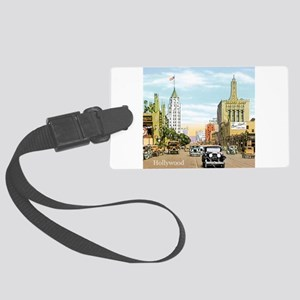 Vintage Hollywood Large Luggage Tag