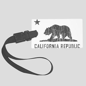 Vintage California Republic Large Luggage Tag