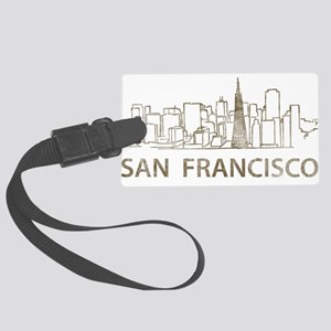Vintage San Francisco Large Luggage Tag