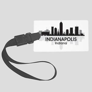 Indianapolis Skyline Large Luggage Tag