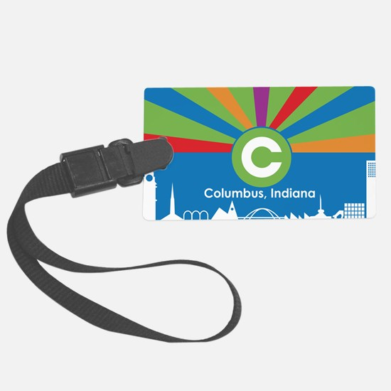 Columbus Flag Luggage Tag