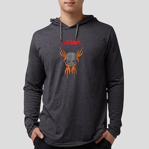 tribal drawing orange and grey.p Mens Hooded Shirt