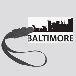 Baltimore Skyline Large Luggage Tag