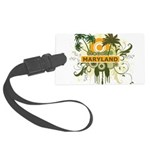 Palm Tree Maryland Large Luggage Tag