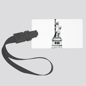 Hand Drawn Statue Of Liberty Large Luggage Tag