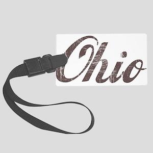 Vintage Ohio Large Luggage Tag