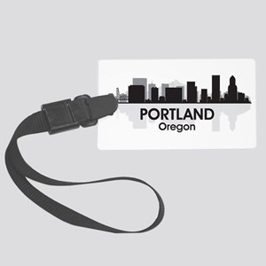 Portland Skyline Large Luggage Tag