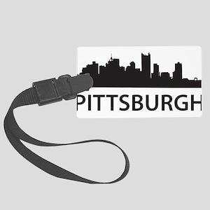 Pittsburgh Skyline Large Luggage Tag