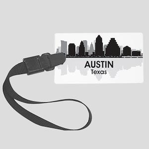 Austin Texas Skyline Large Luggage Tag