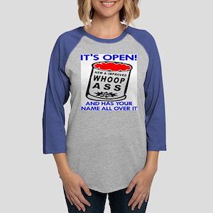 wht_Open_Can_Whoop_ass_Name.pn Womens Baseball Tee