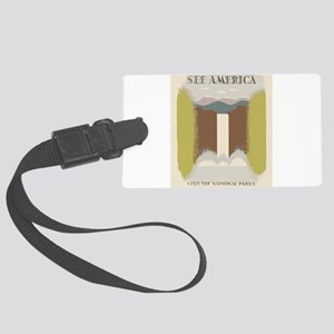 Visit The National Parks Large Luggage Tag