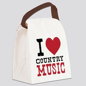 Country Music Canvas Lunch Bag