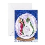 White Rabbit Christmas Greeting Cards (Pk of 20)