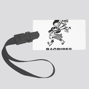 Vintage Bagpipes Large Luggage Tag